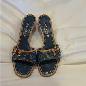 Louis Vuitton low heel slides